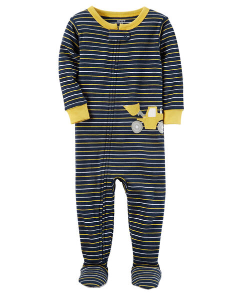 643893ceb962 1-Piece Construction Snug Fit Cotton PJs