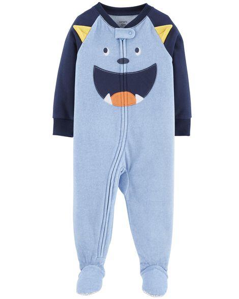bef88aa02b76 1-Piece Monster Fleece PJs