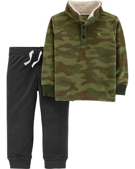 60e7a747c 2-Piece Camo Fleece Pullover & Jogger Set | Carters.com