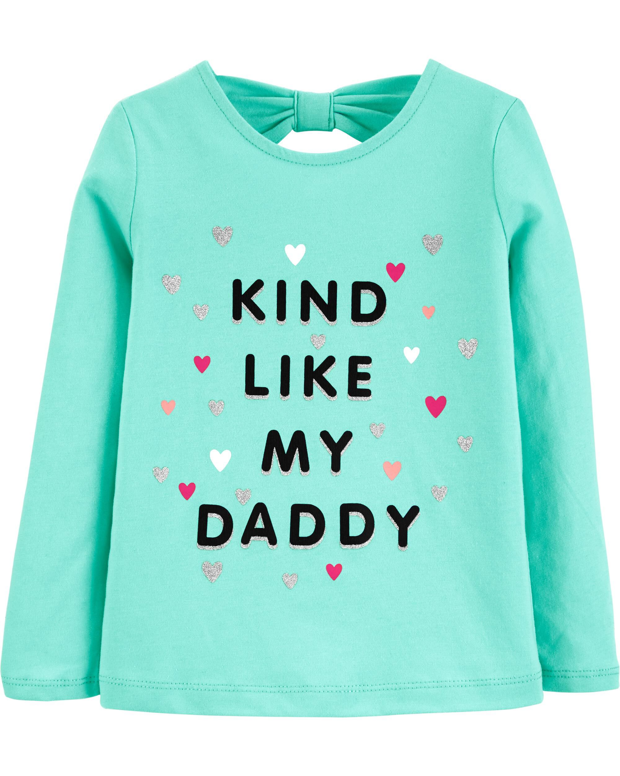 *CLEARANCE* Kind Like Daddy Bow Back Jersey Tee