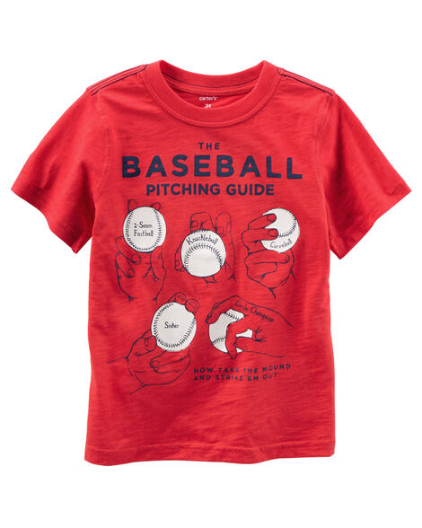 bcd629c2 Baseball Graphic Tee | Carters.com