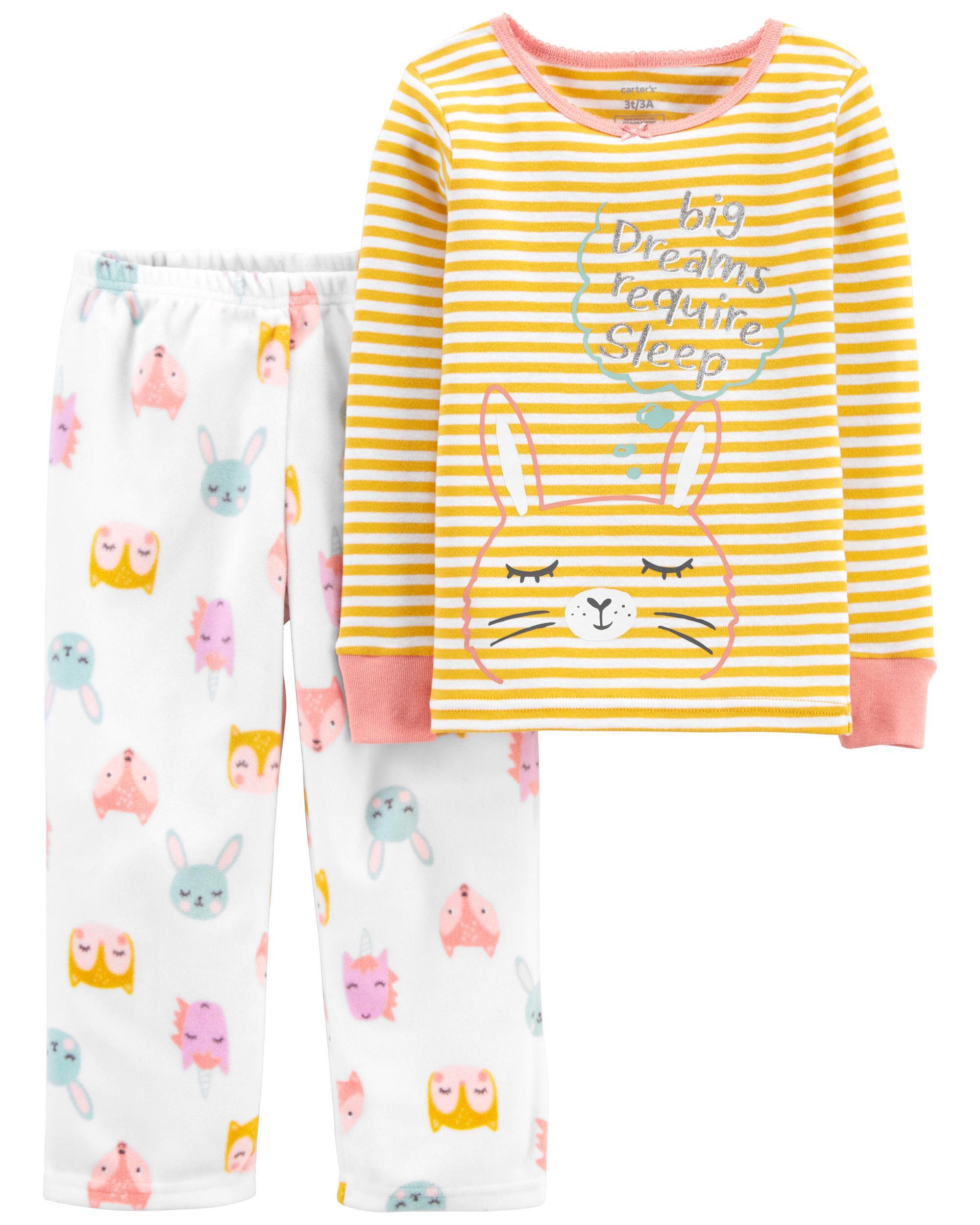 *CLEARANCE* 2-Piece Bunny Fleece PJs