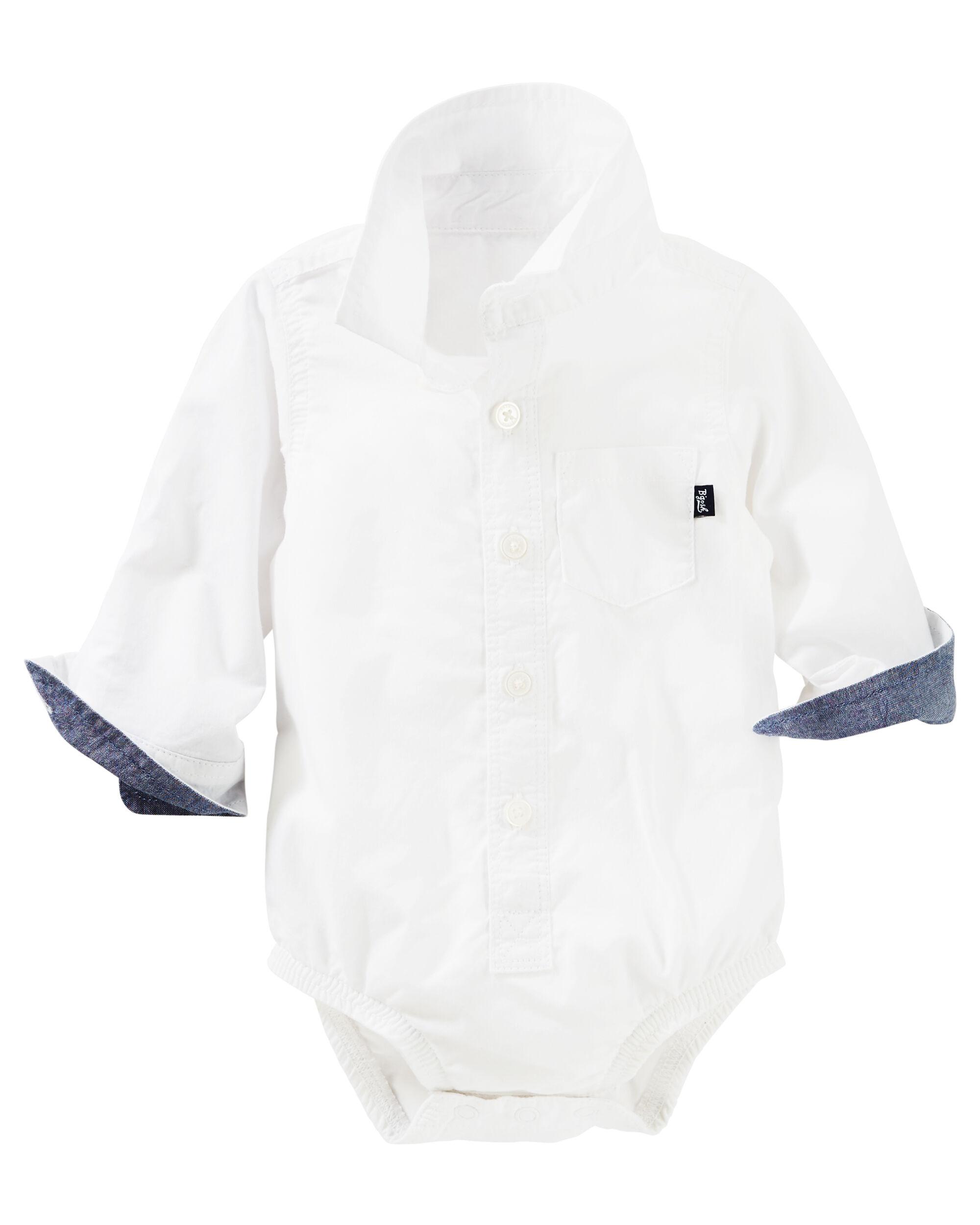 Baby Boy Oxford Bodysuit