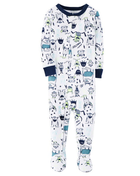 0763f5fc7883 1-Piece Glow-In-The-Dark Snug Fit Cotton PJs