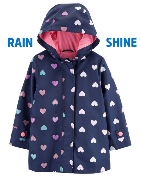 aa59bc154 Color Changing Heart Raincoat | Carters.com