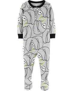 b9cf3a0d69 1-Piece Sloth Snug Fit Cotton PJs