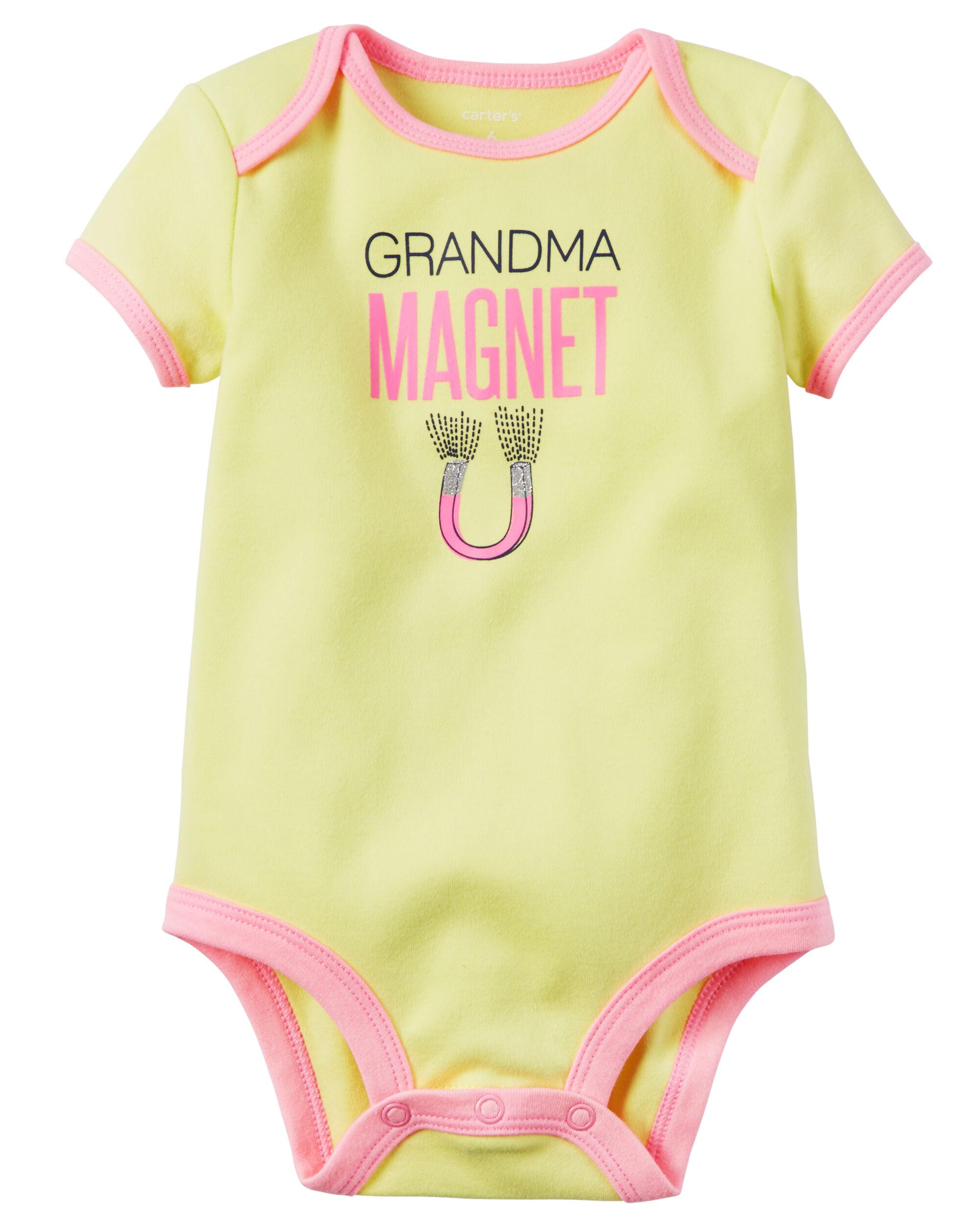 Granny Magnet Funny Girls Babygrow baby vest