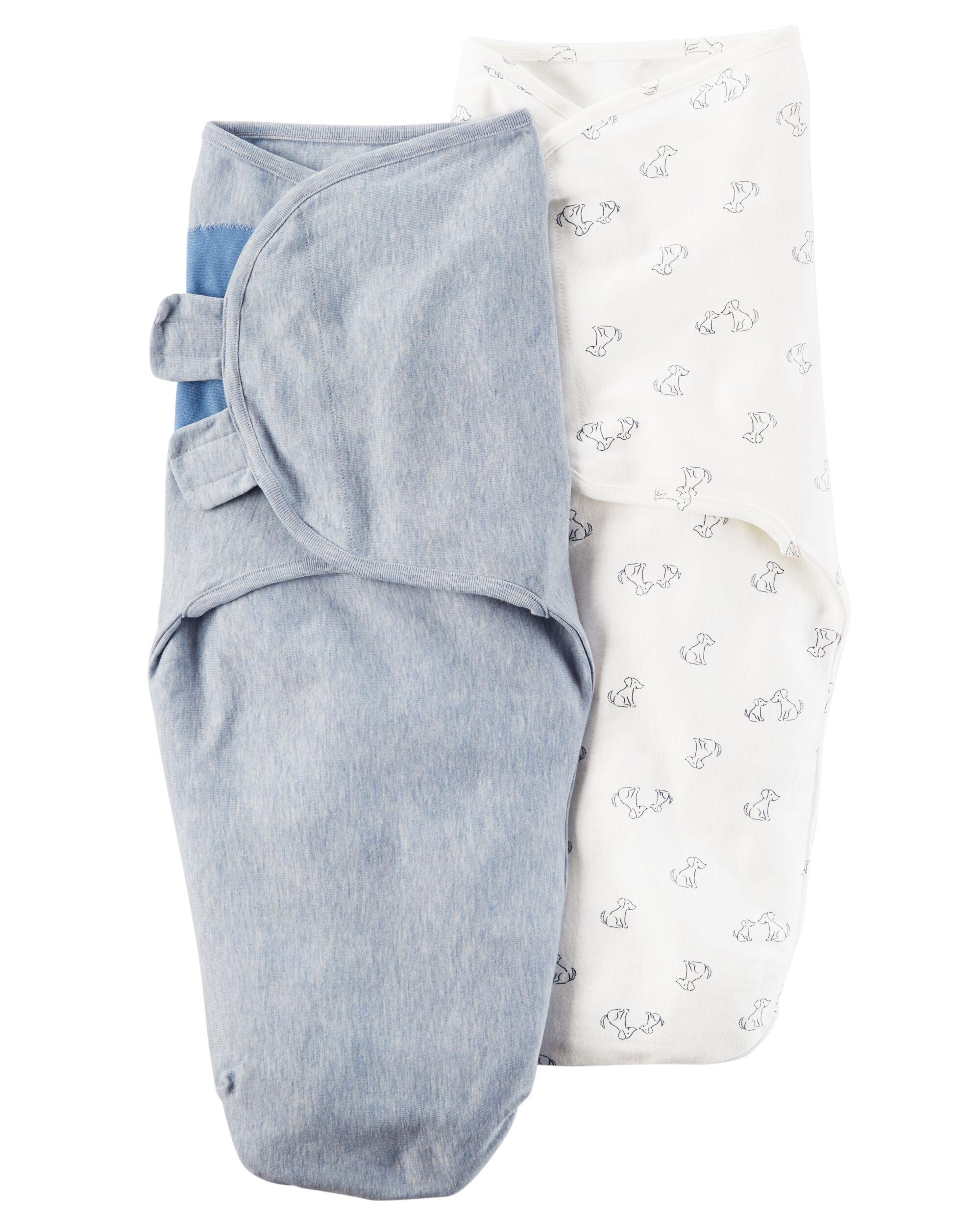 2 Pack Babysoft Swaddle Blankets Carters