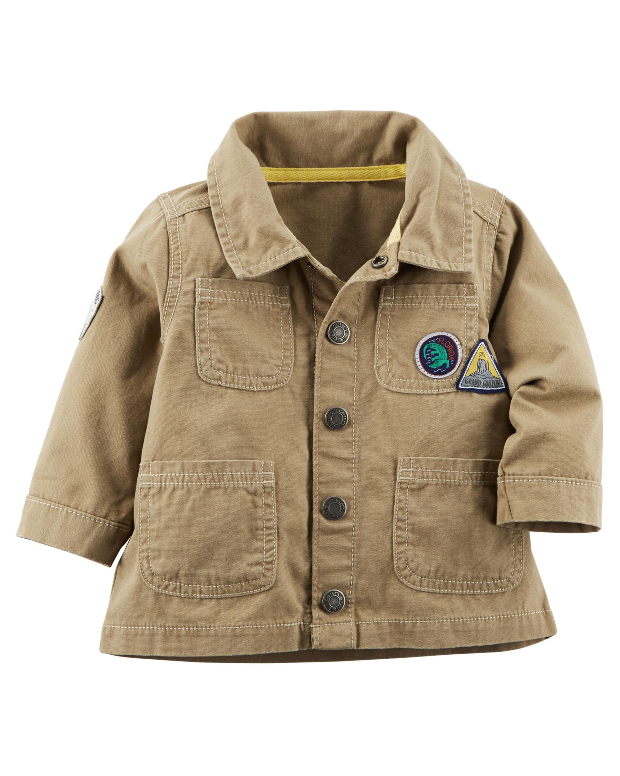 Carters Baby Boys Canvas Jacket