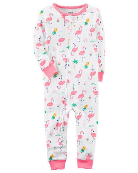 1-Piece Neon Snug Fit Cotton Footless PJs