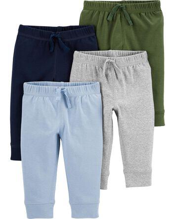 OSHKOSH NWT Infant Boys Tan Drawstring Joggers NWT easy pull on pants