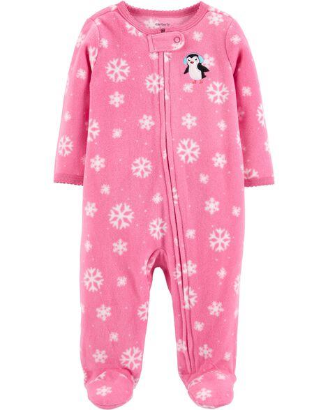 5c5fd4104541 Penguin Zip-Up Fleece Sleep   Play