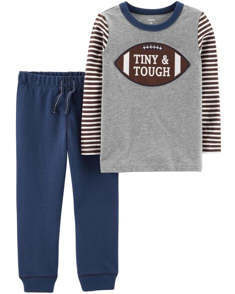 2-Piece Football Tee & French Terry Jogger Set