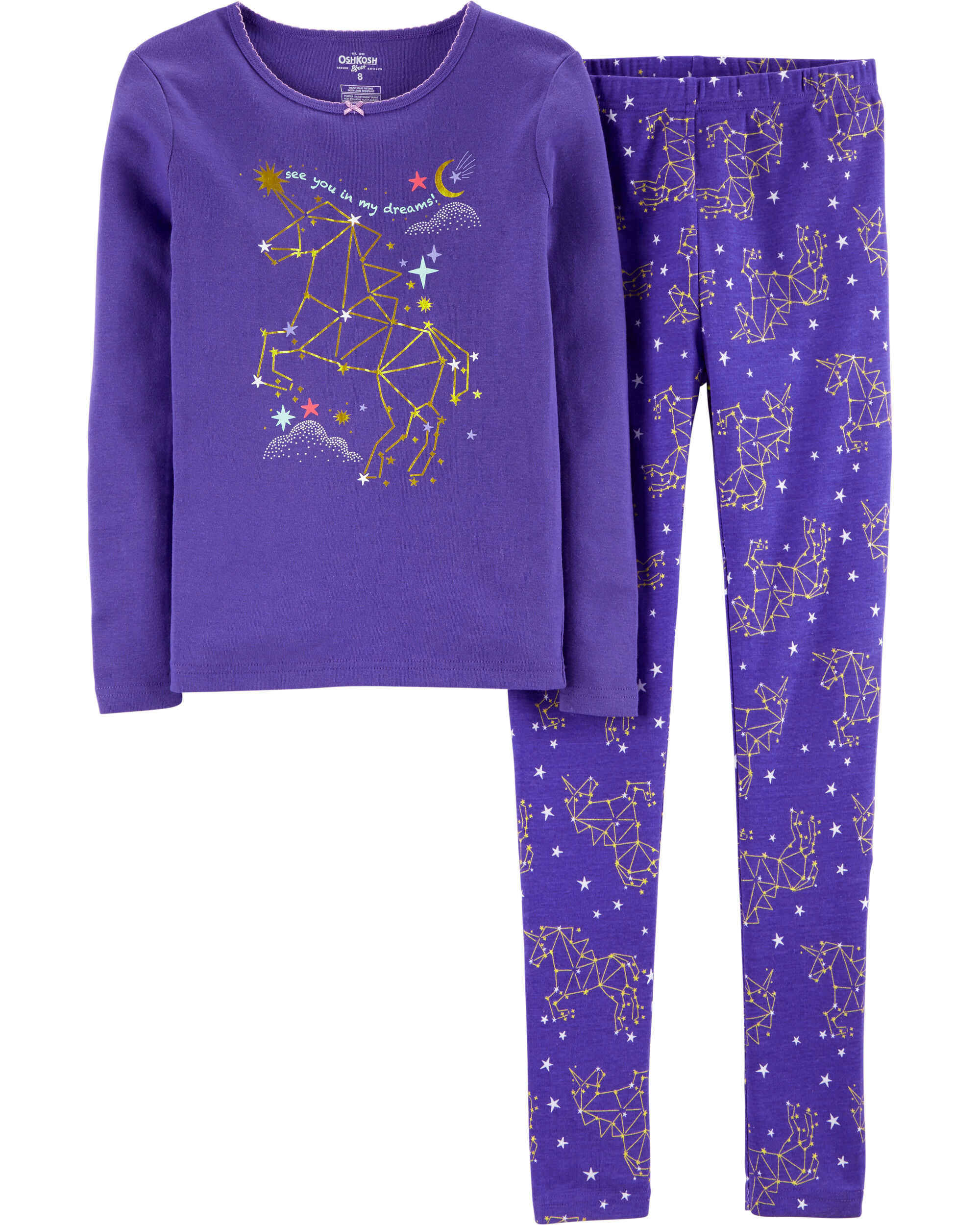 *CLEARANCE* 2-Piece Snug Fit Constellation Cotton PJs