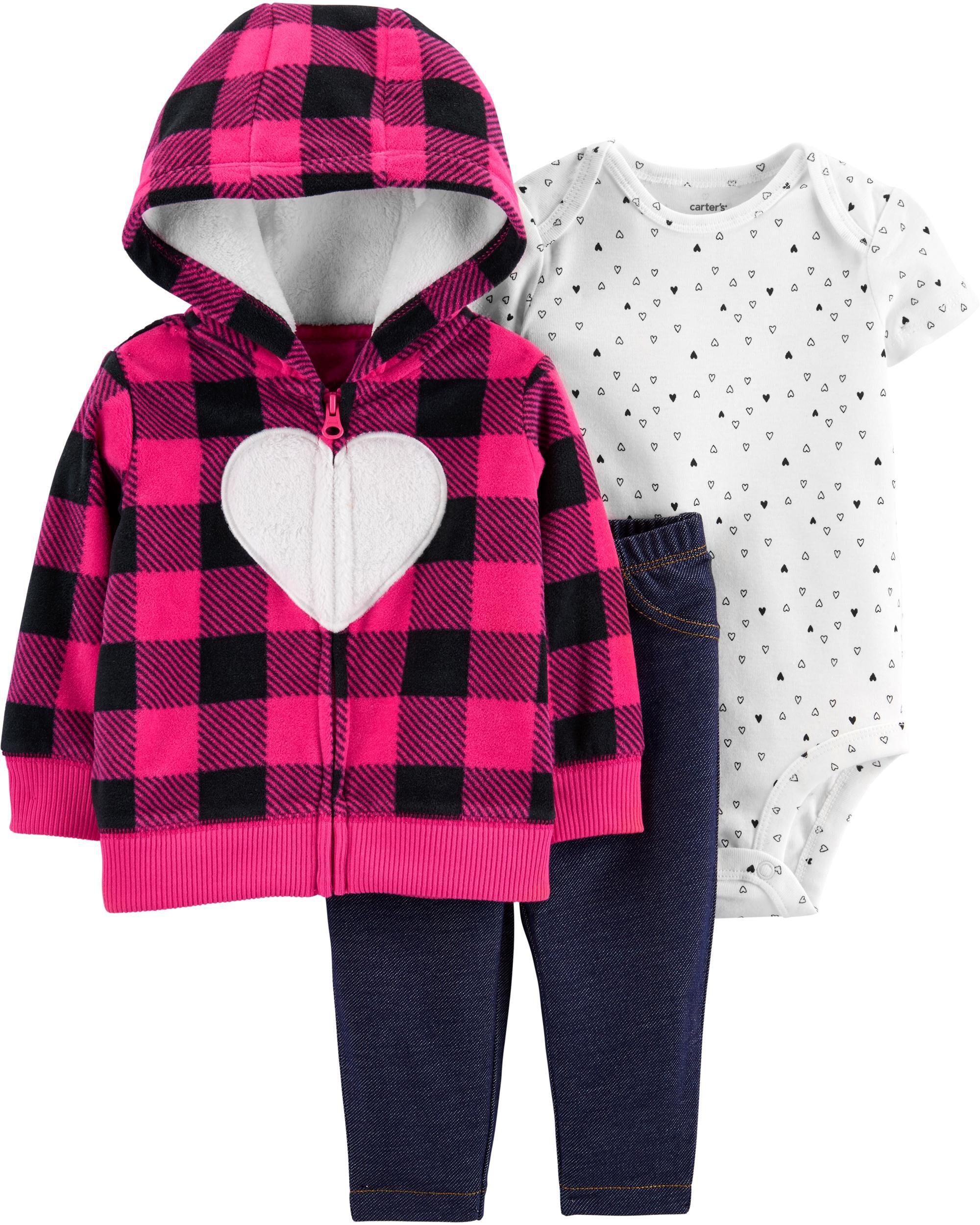 *CLEARANCE* 3-Piece Heart Little Jacket Set