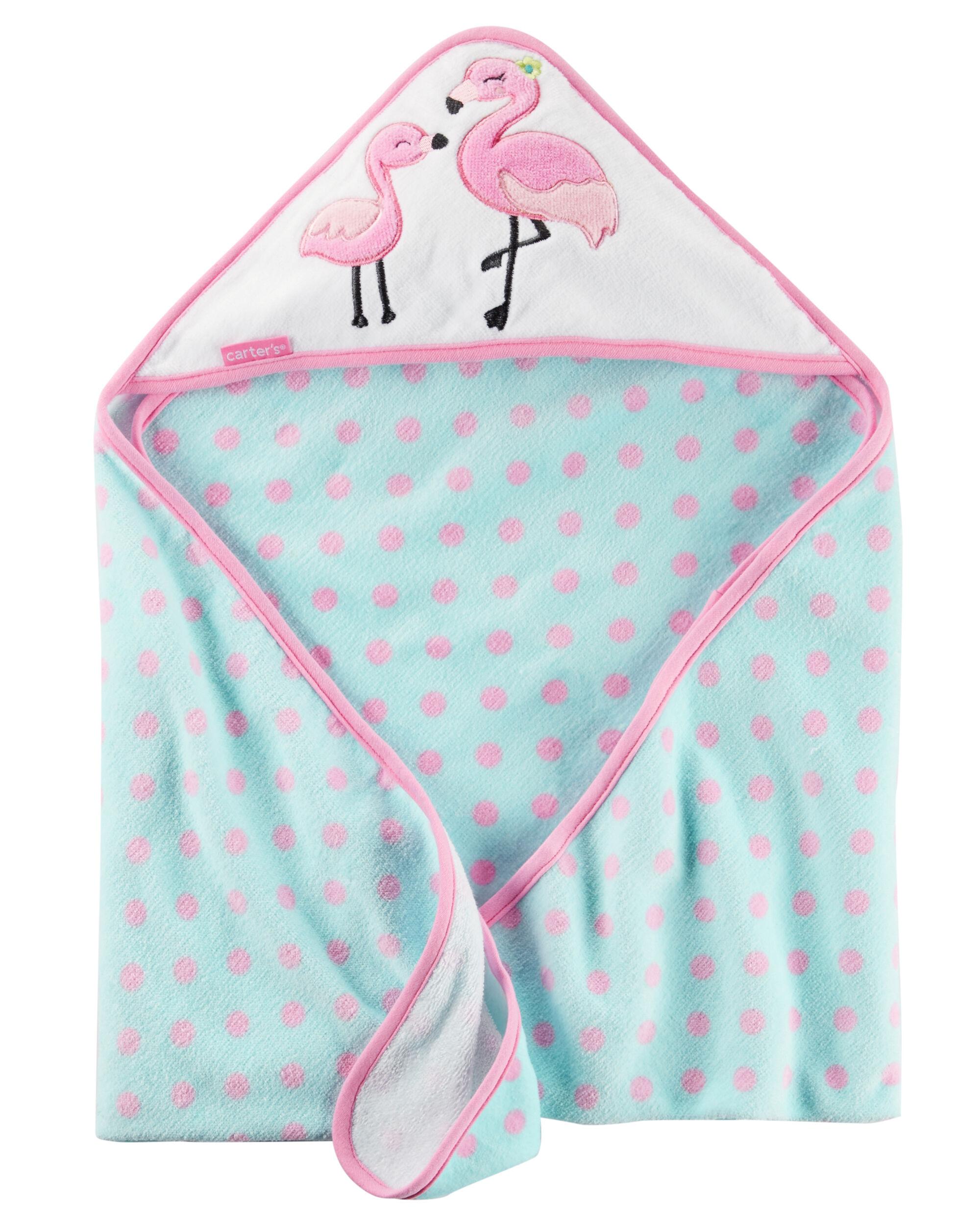 Flamingo Hooded Towel Carters Com