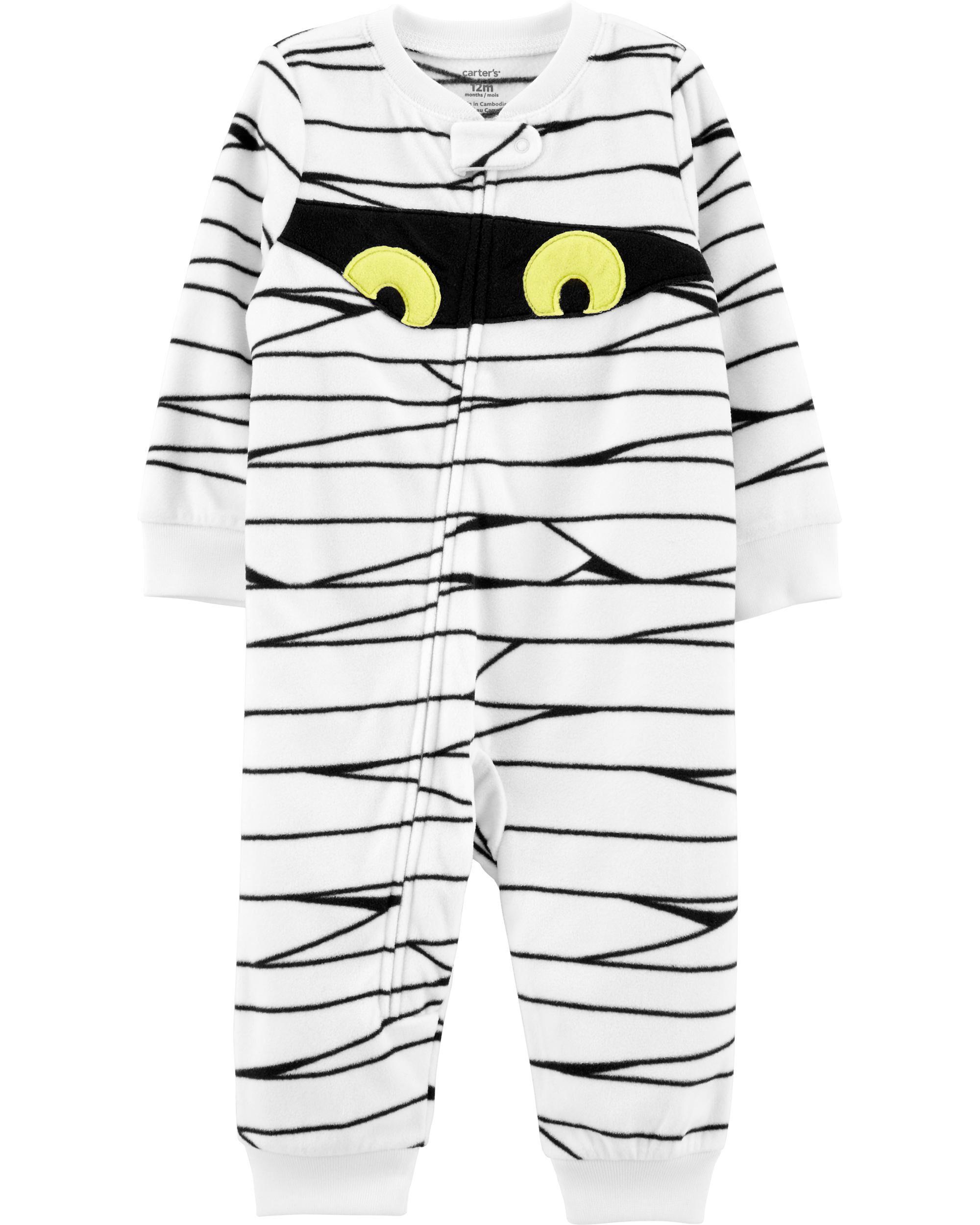 1-Piece Mummy Fleece Footless PJs