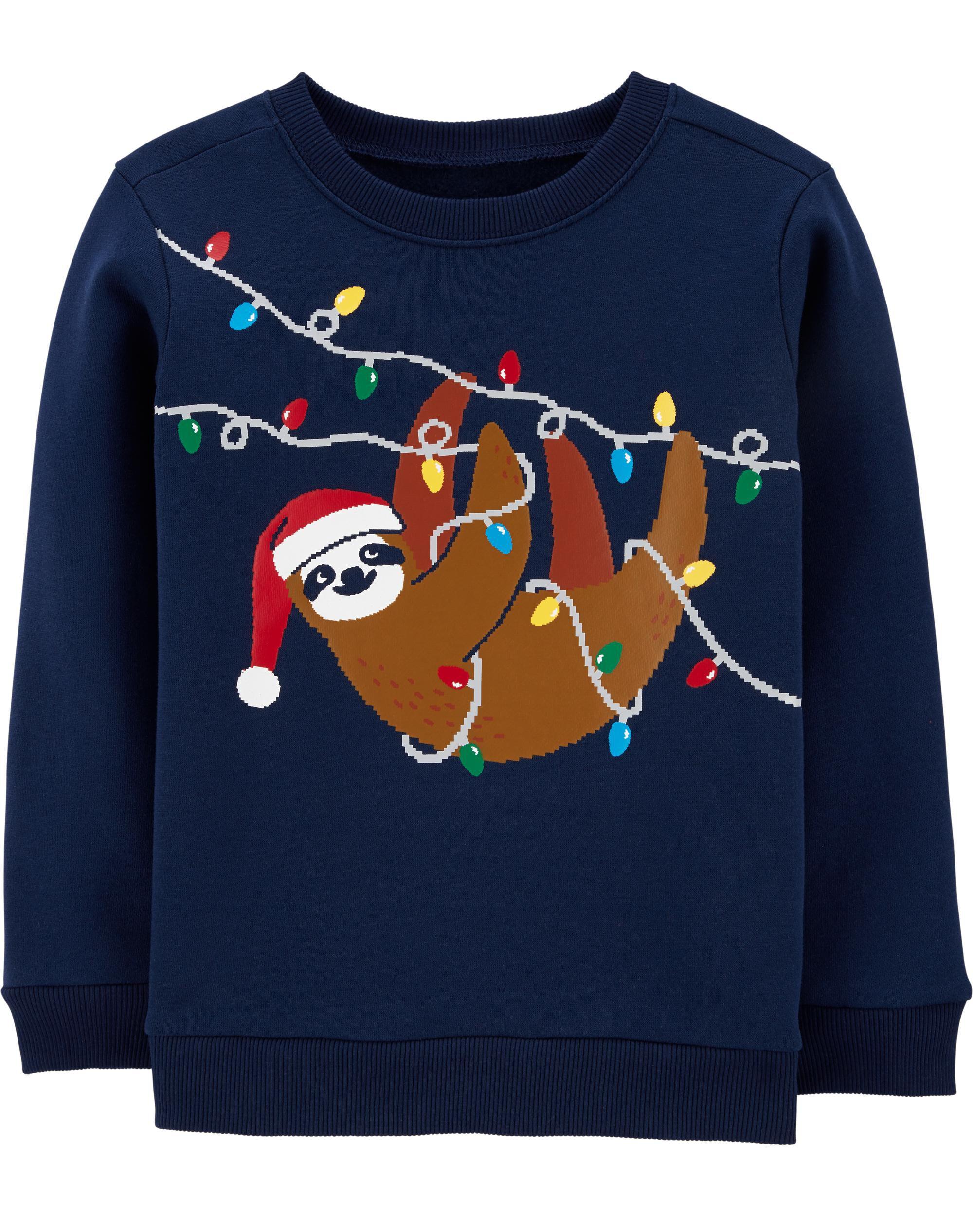 *DOORBUSTER* Sloth Christmas Crew Neck Sweatshirt