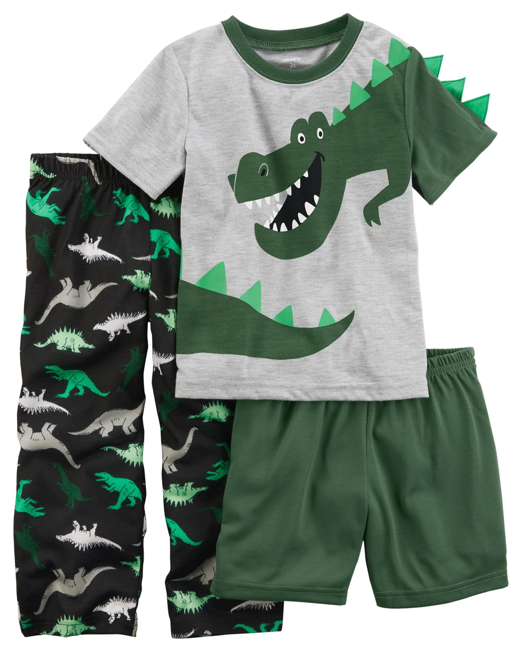 Sizes: 18M-7 Carters Boy/'s 3-piece Swim Set Dino No Tax