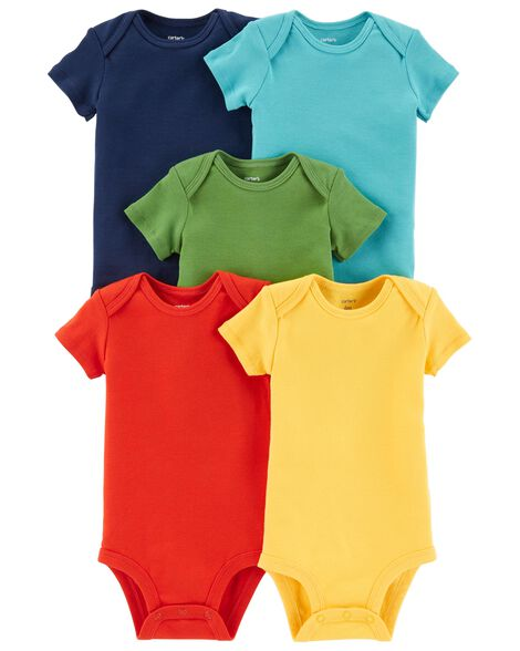 5-Pack Short-Sleeve Original Bodysuits | Tuggl