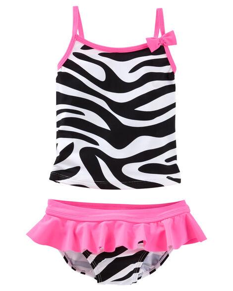 e84745bbe499e Baby Girl OshKosh Zebra Print Tankini