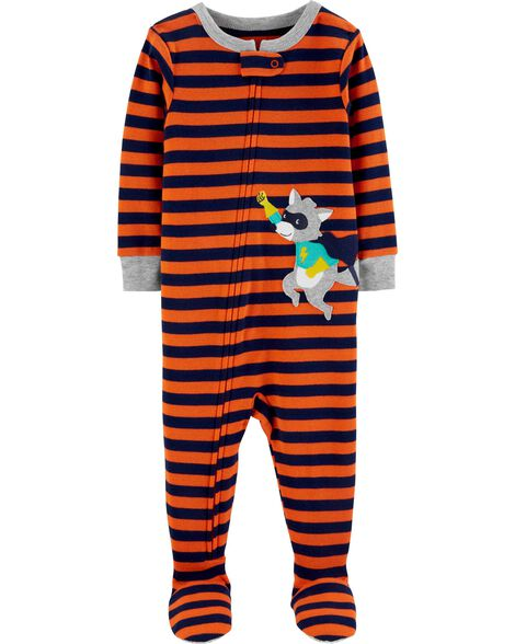 1-Piece Raccoon Snug Fit Cotton PJs
