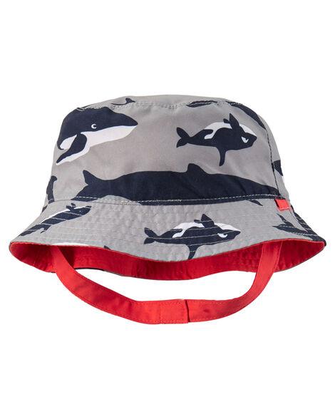 Reversible Whale Print Bucket Hat ... eafbae388af0