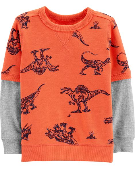 Dinosaur Layered-Look Tee