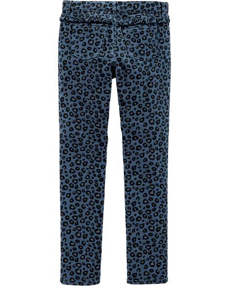 Cheetah Slim Fit Knit Jeggings
