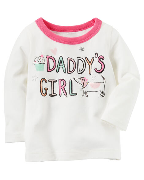 Long Sleeve Glitter Daddys Girl Graphic Tee Carterscom