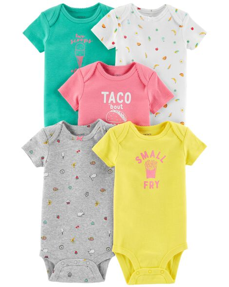 c9f1c11e5 5-Pack Food Original Bodysuits