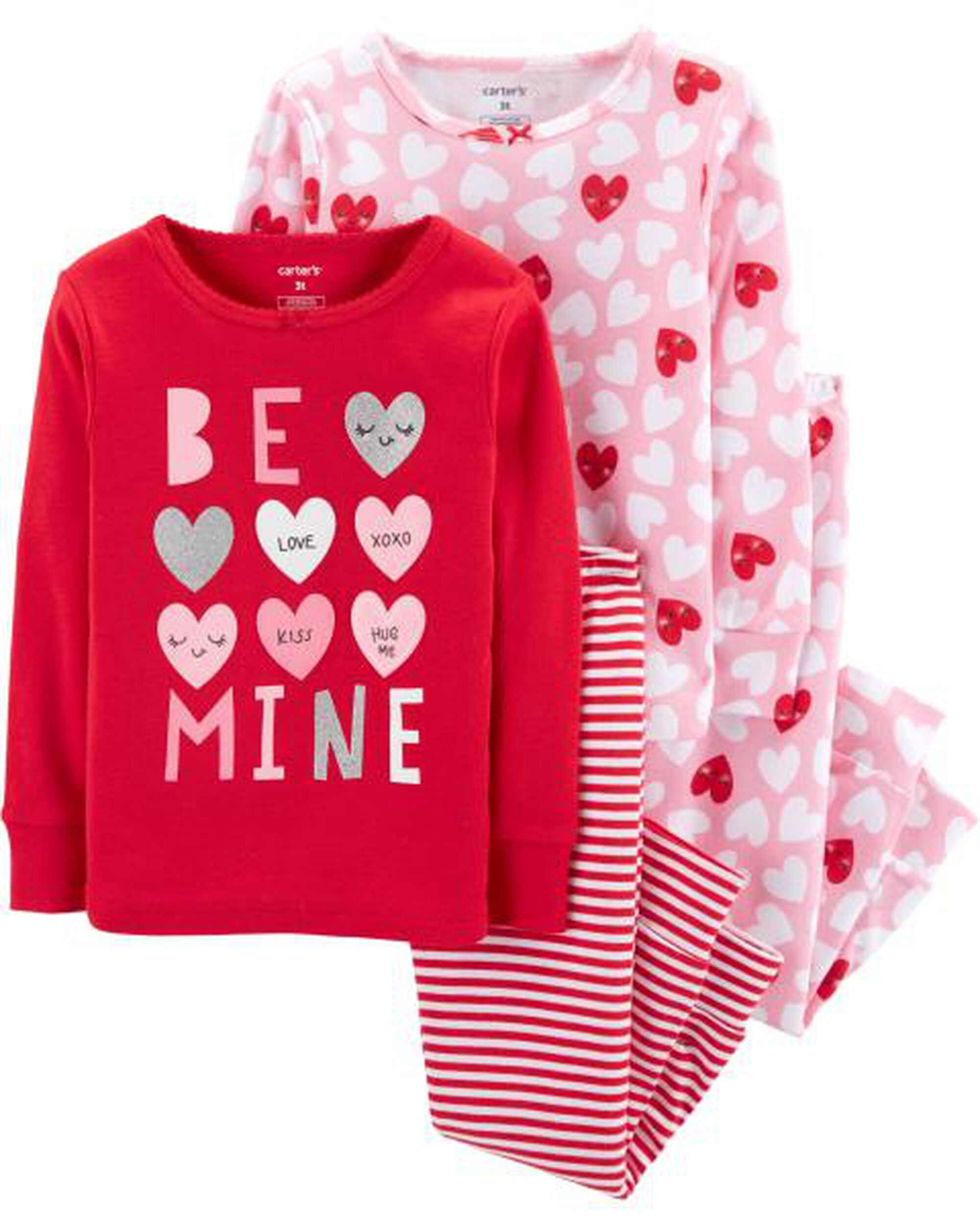 c4c163109931 4-Piece Valentine s Day Snug Fit Cotton PJs