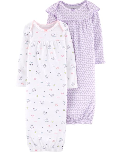 1440209686d5 Baby Girl 2-Pack Babysoft Sleeper Gowns