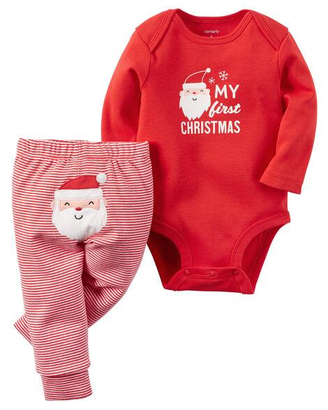 2 Piece Christmas Bodysuit Amp Pant Set Carters Com