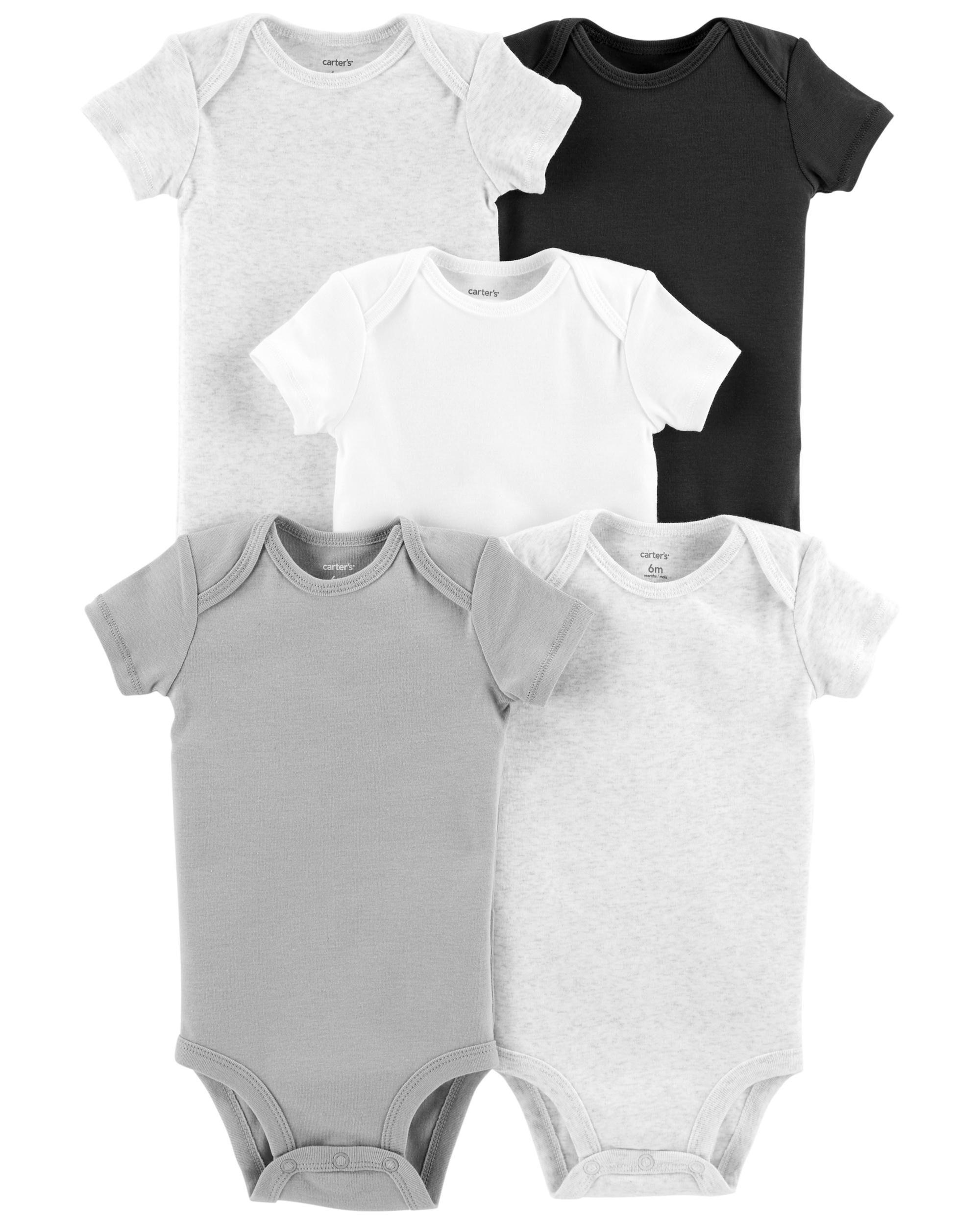 Preemie Carters Short Sleeve 5-pack Bodysuits