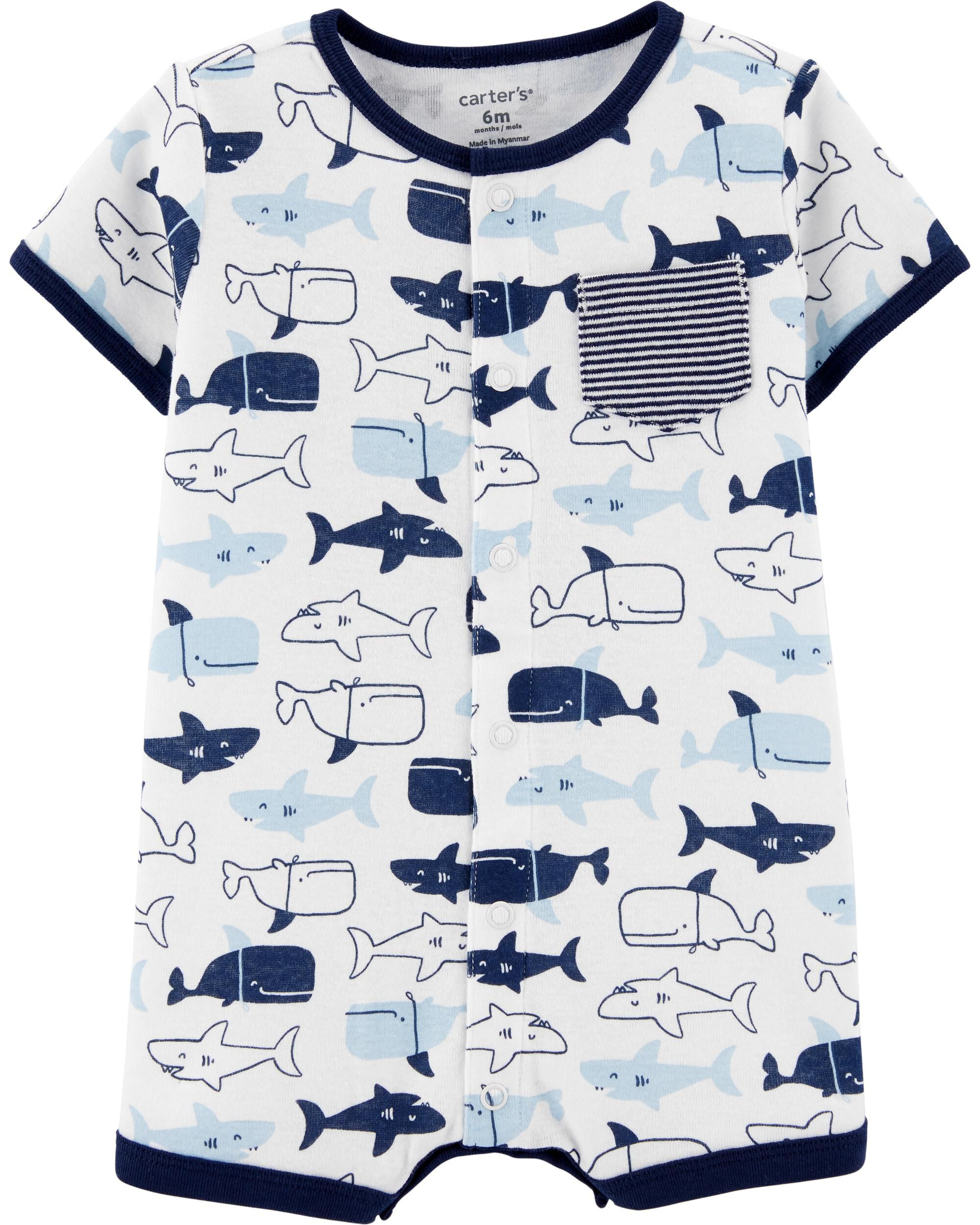 *CLEARANCE* Whale Snap-Up Romper