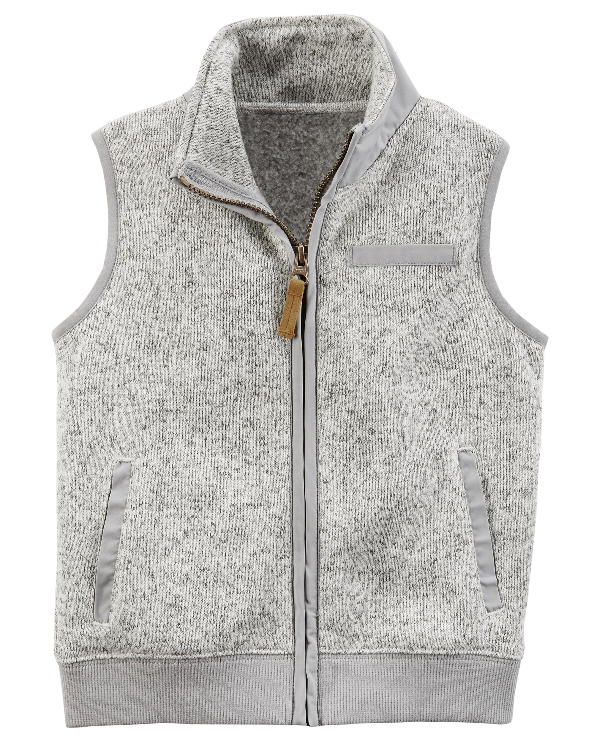 Zip-Up Sweater-Faced Vest | Carters.com