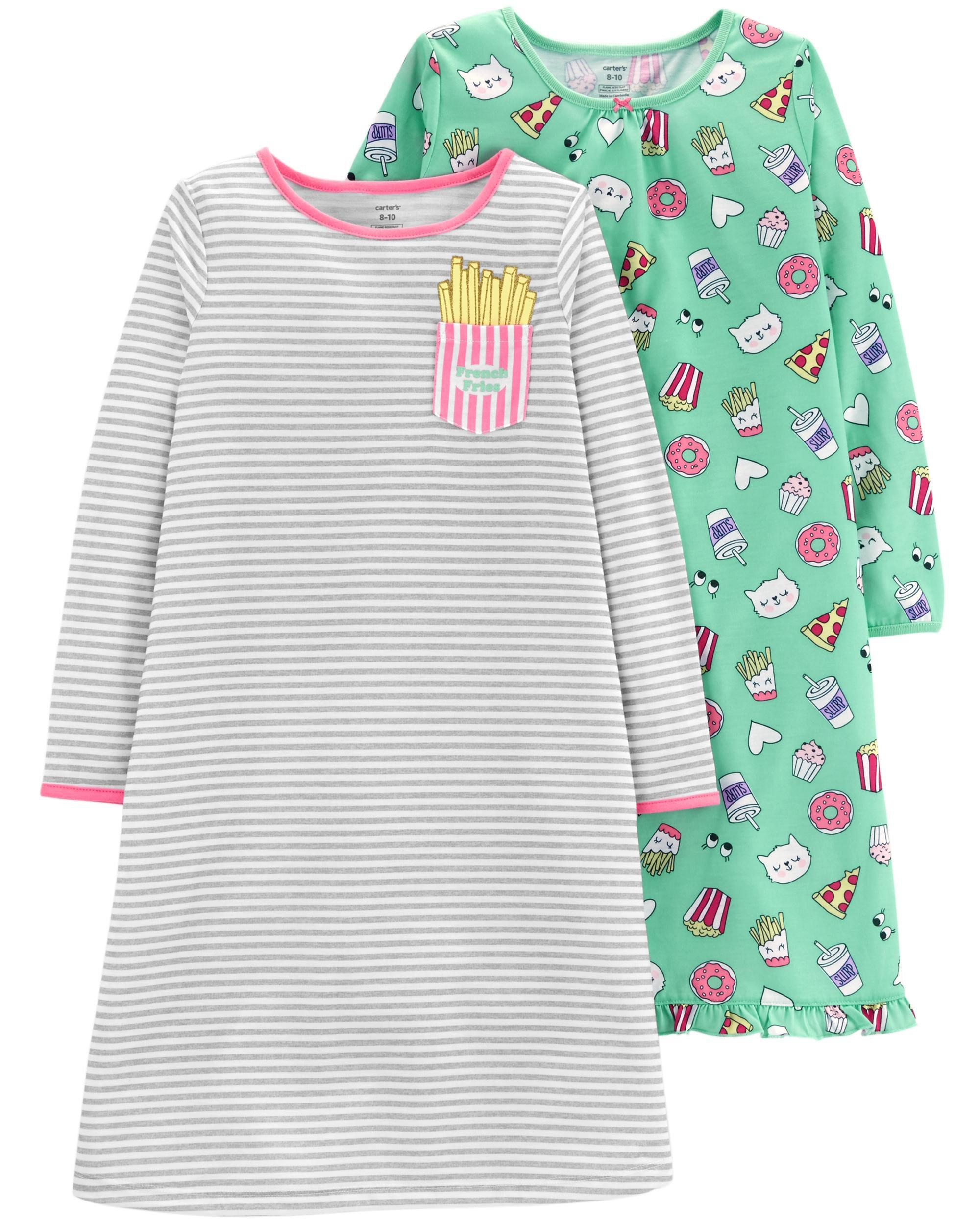 2-Pack Food Printed Sleep Gowns | Carters.com