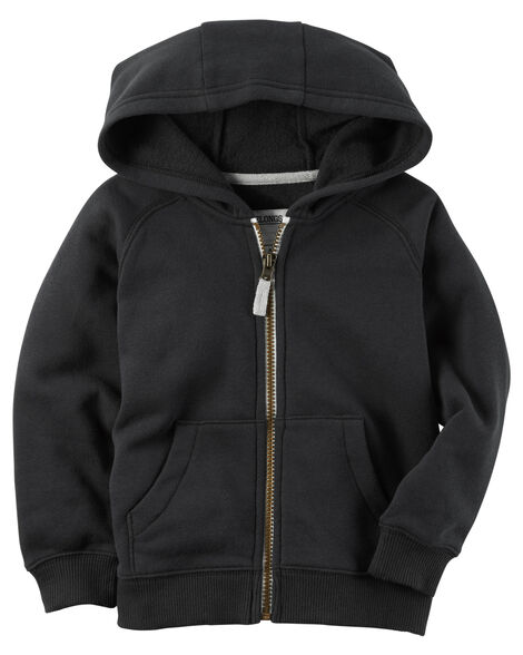 Brushed Fleece Zip-Up Hoodie