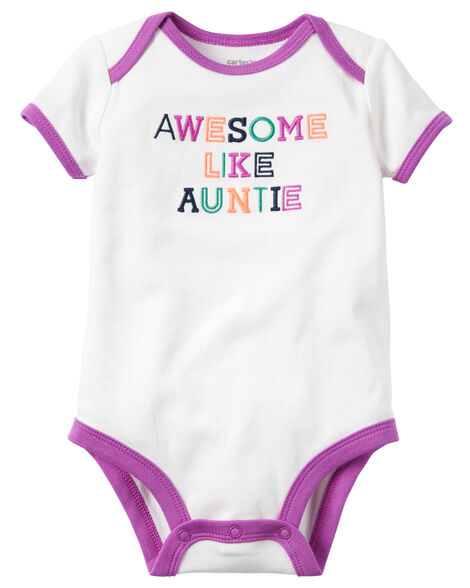 e315a9fa2 Awesome Like Auntie Collectible Bodysuit | Carters.com