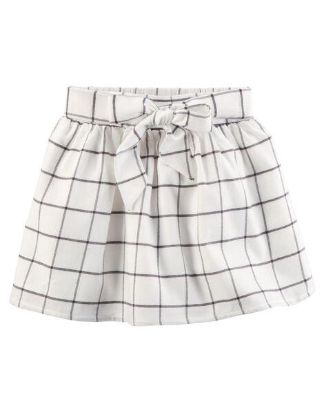 Windowpane Flannel Skirt