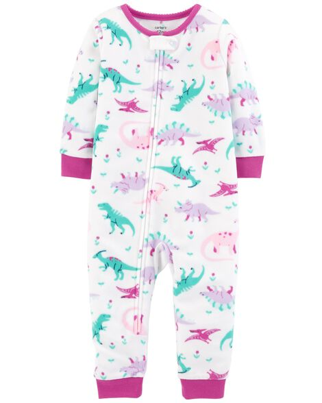 ded71b26b 1-Piece Dinosaur Fleece Footless PJs | Carters.com