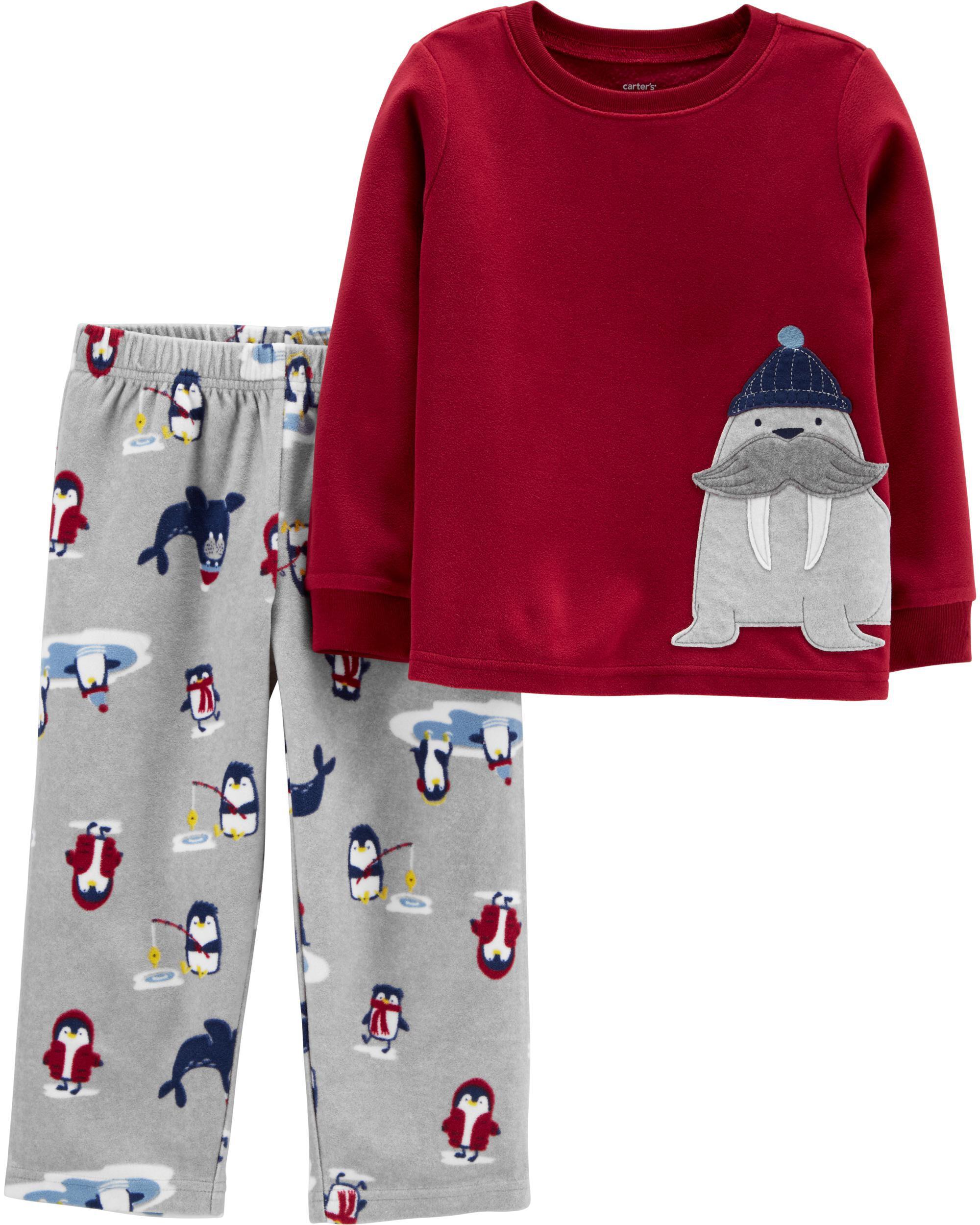 2-Piece Walrus Fleece PJs