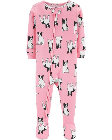 f6590ae5a 1-Piece French Bulldog Snug Fit Cotton PJs