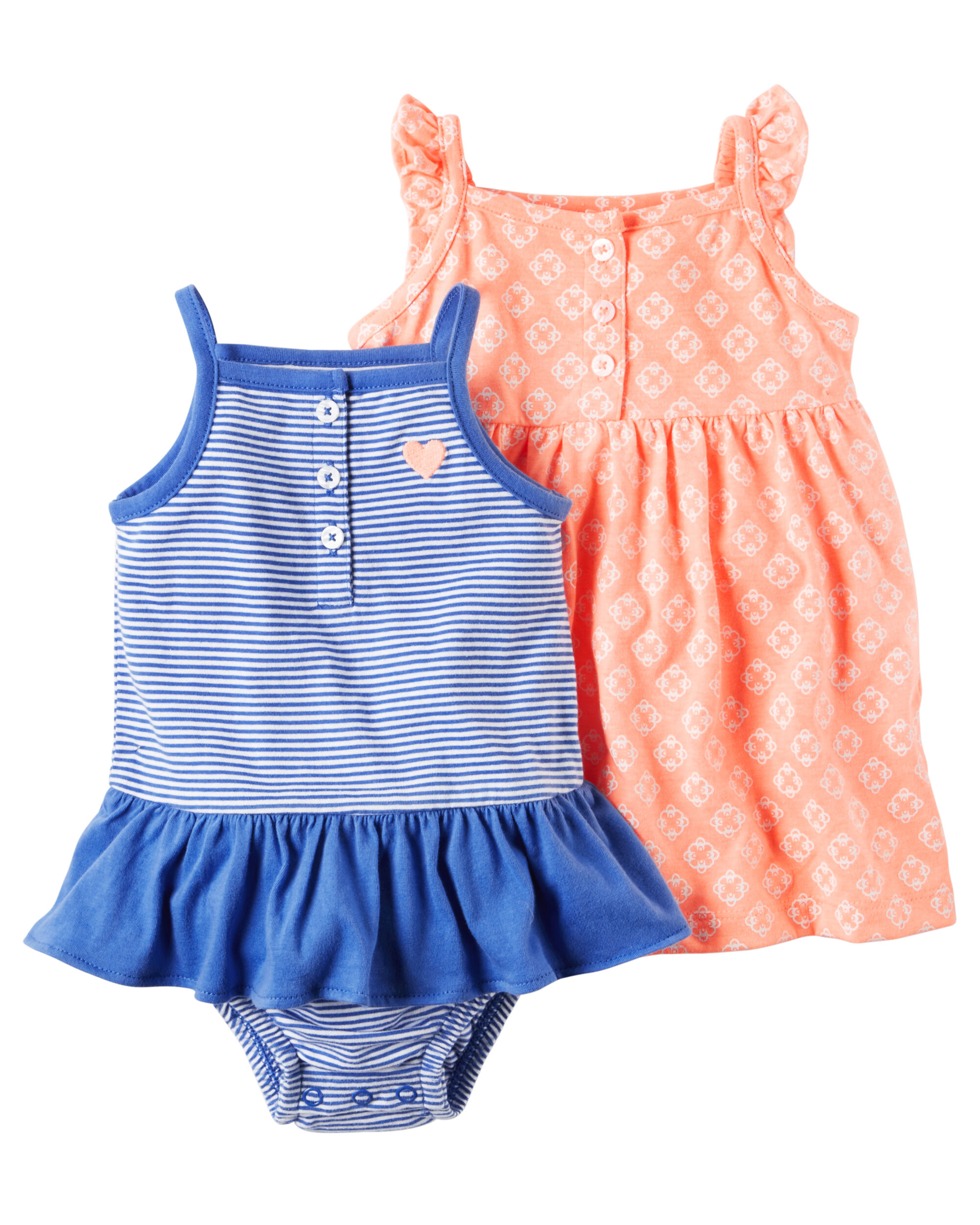 2 Pack Neon Dress & Sunsuit Set