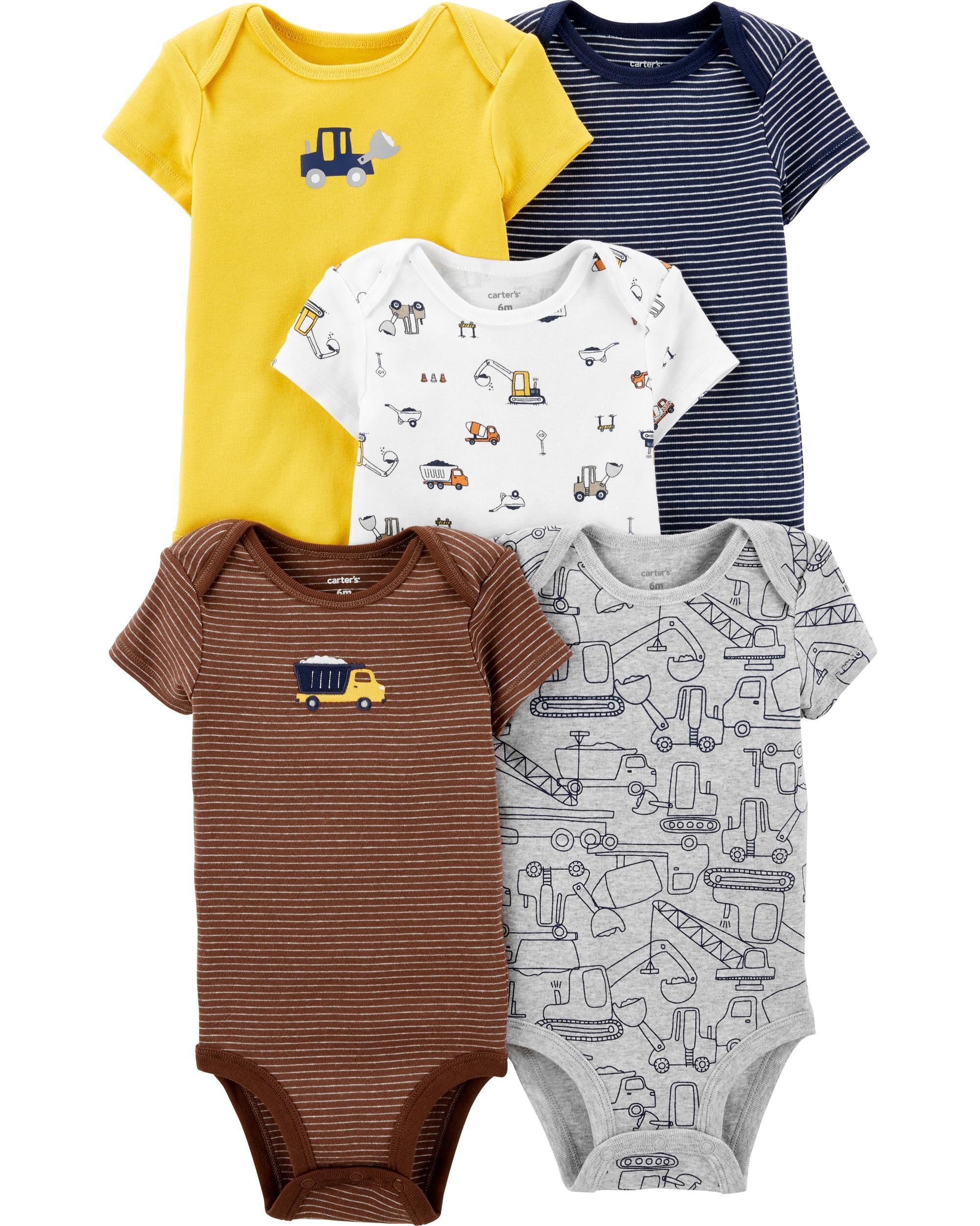 Simple Joys by Carters 3-Pack Short-Sleeve Family Slogan Bodysuits Beb/é-Ni/ños Pack de 3