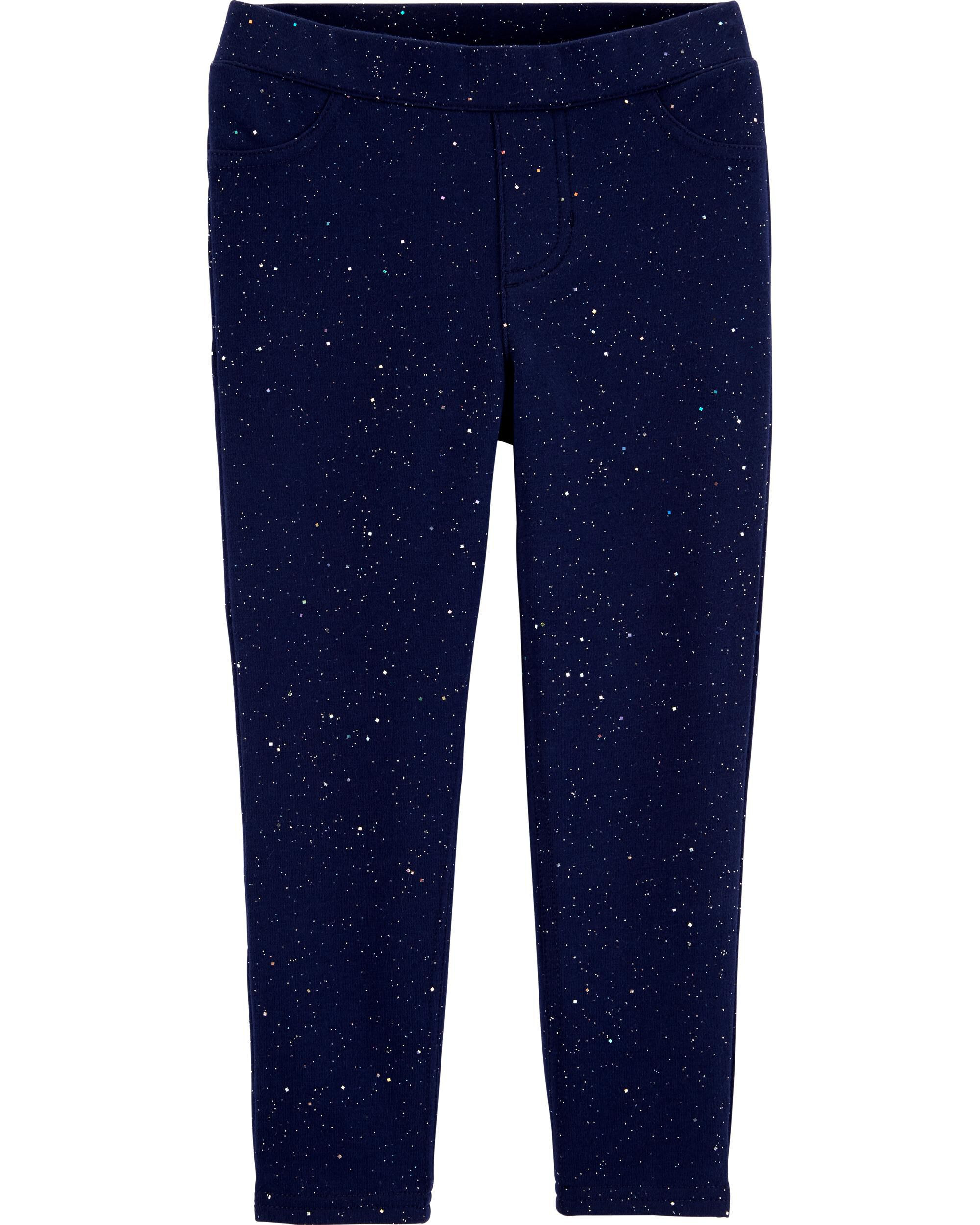 *CLEARANCE* Sparkly Pull-On French Terry Jeggings