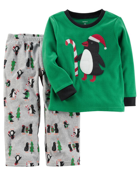 ff9d192381cc 2-Piece Christmas Fleece PJs