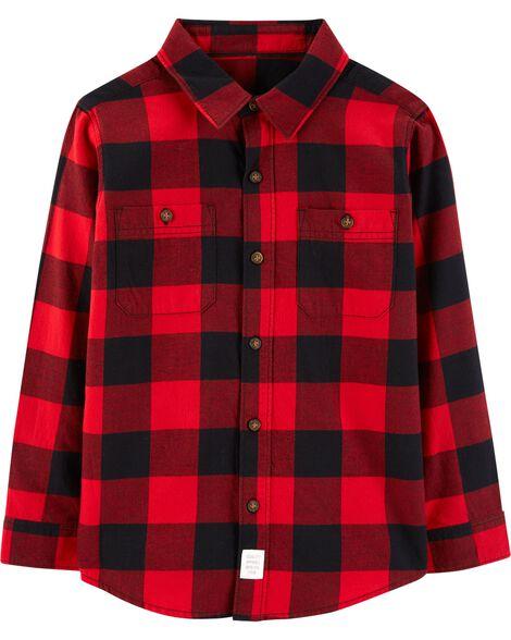 5a5860095e82 Buffalo Check Twill Button-Front Shirt