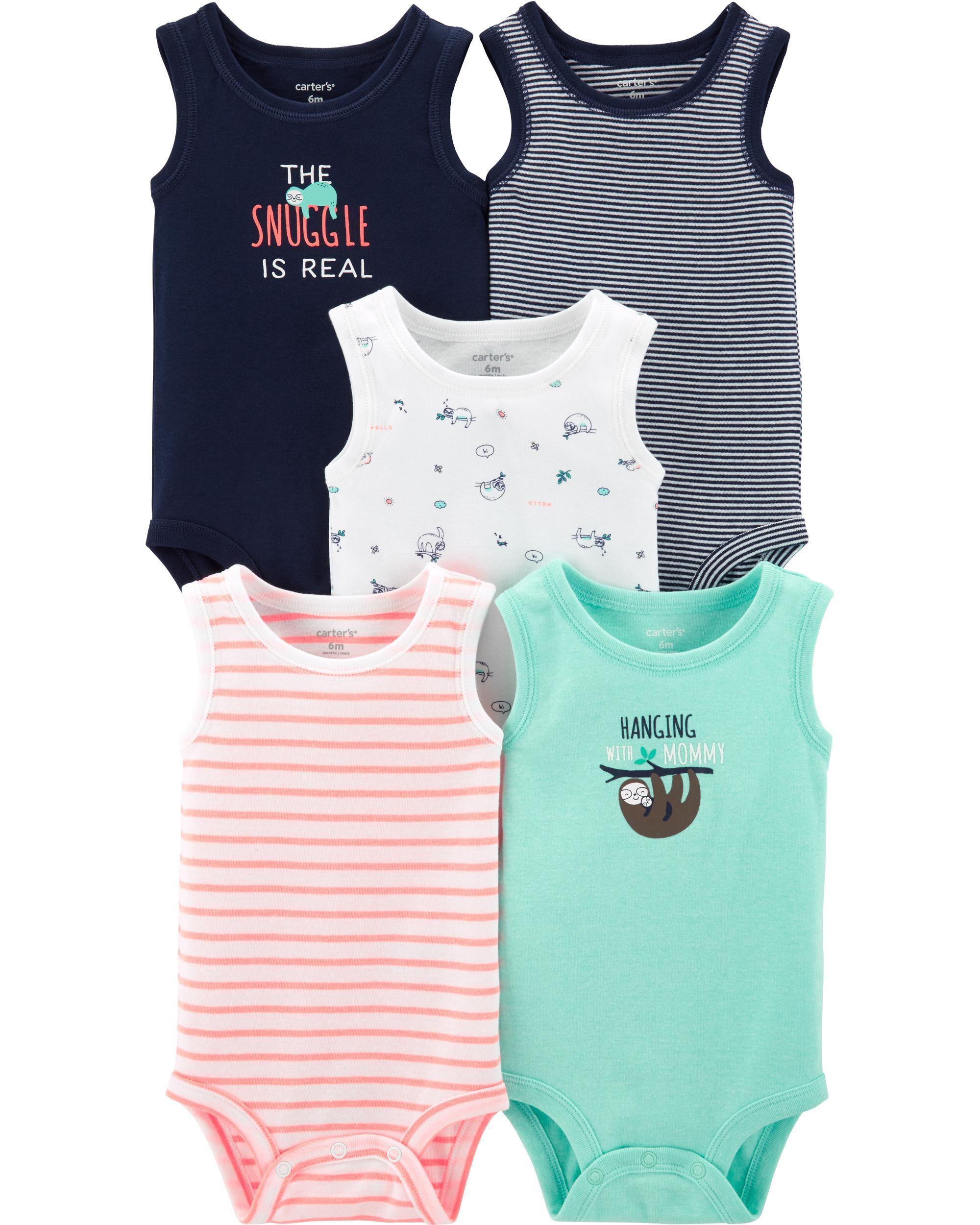 Carters Girls 2T-4 Printed Sleeveless Tank Top